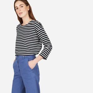 Everlane Breton Stripe Zip Shoulder Tee